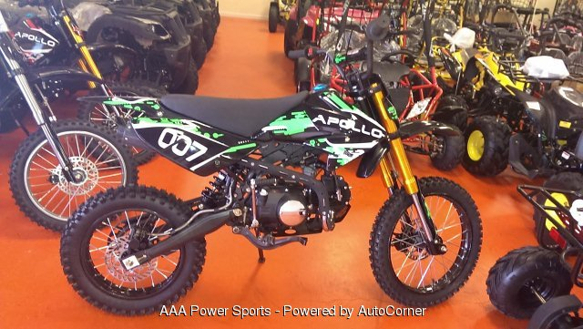 2018 Apollo 125cc Dirt Bike - Lime Green