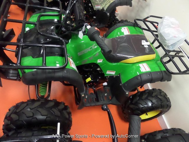 "2018 Cougar 125cc 8"" Ryder - Green & Yellow"